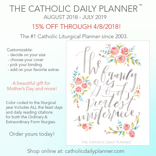 catholic daily planner by michele quigley on pre sale family in