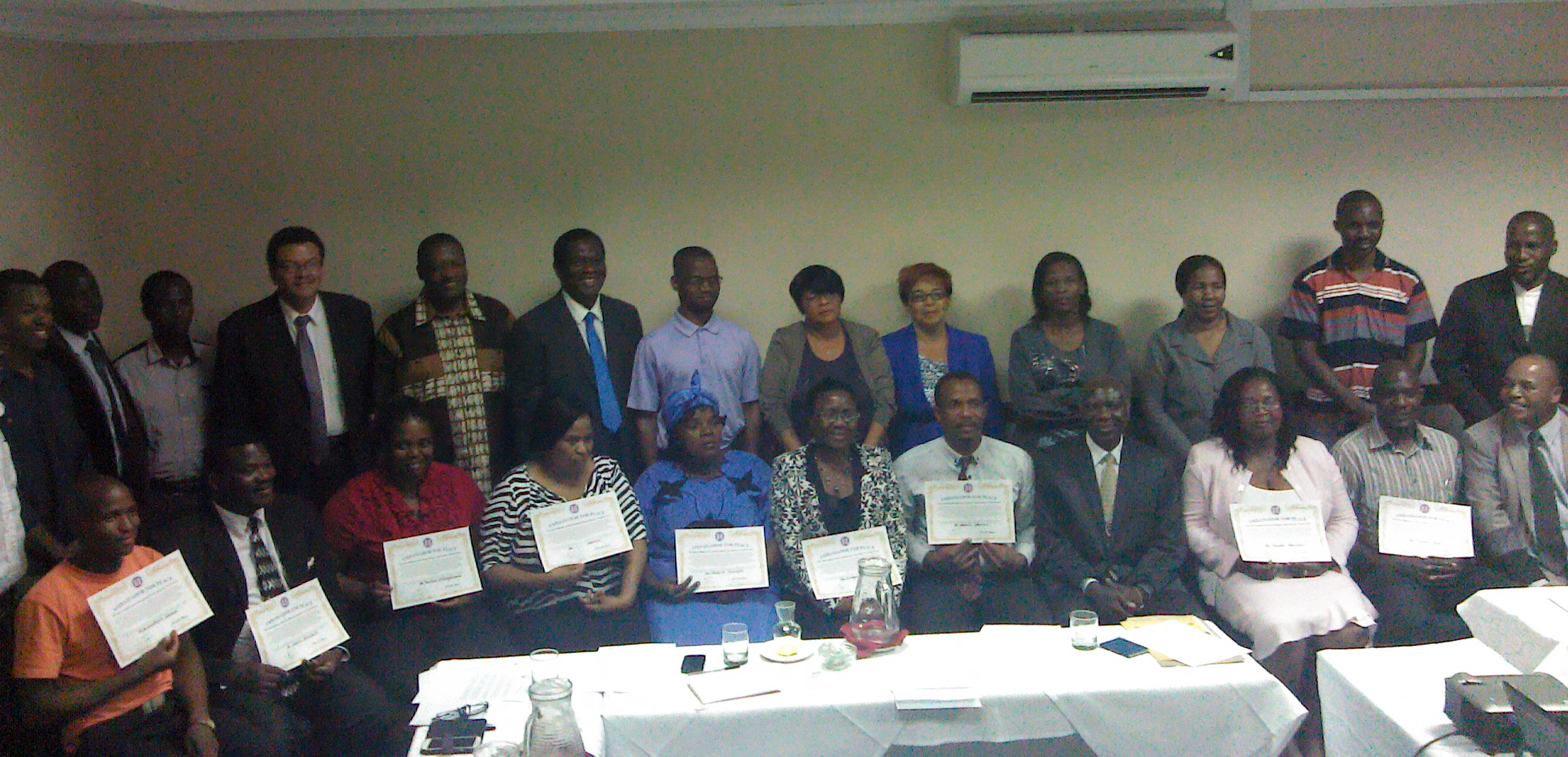 Ambassadors For Peace with their Certificates