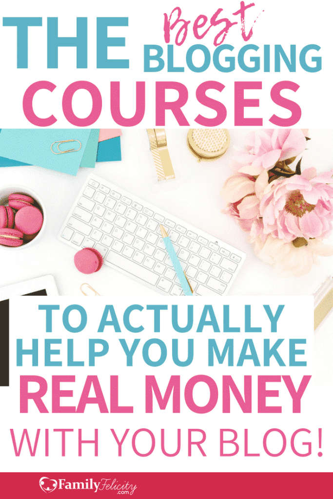 Ready to finally make money with your blog? These are my favorite courses on how and what it really takes to make real money blogging. #makingmoney #blogging #blogger #bloggersgetsocial #pinterestmarketing #socialmedia