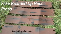 Halloween Props Homemade  Fake Boarded up House | Family ...