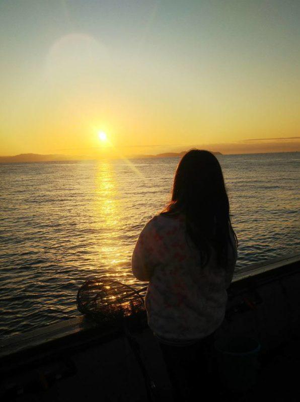 淡路島観光ホテルさんの釣り場から見る朝日