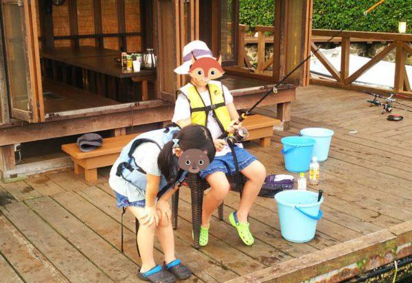 百楽荘の釣り場