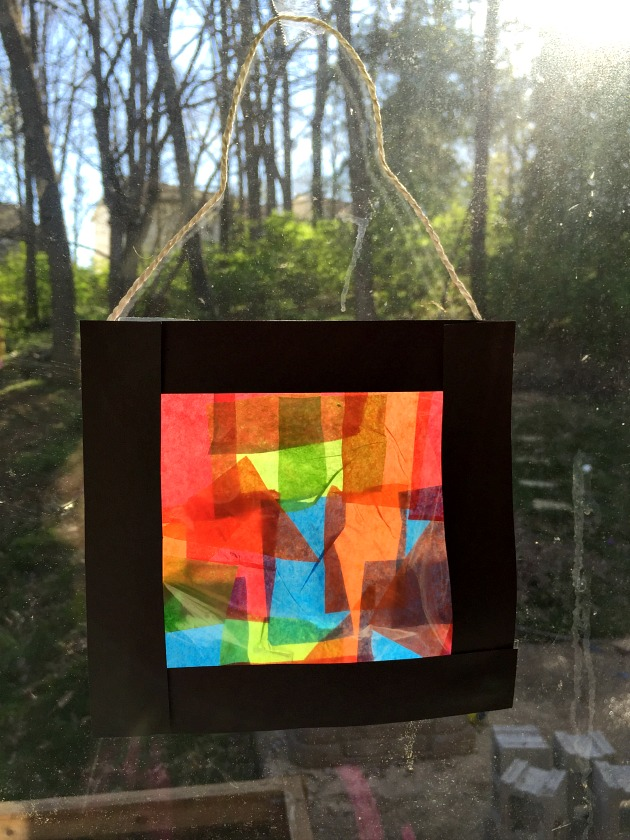 Tissue Paper Stained Glass Craft For Kids Family Focus Blog