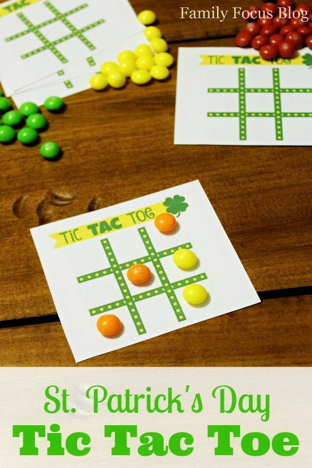Free Printable St Patrick's Day Tic Tac Toe Game Family