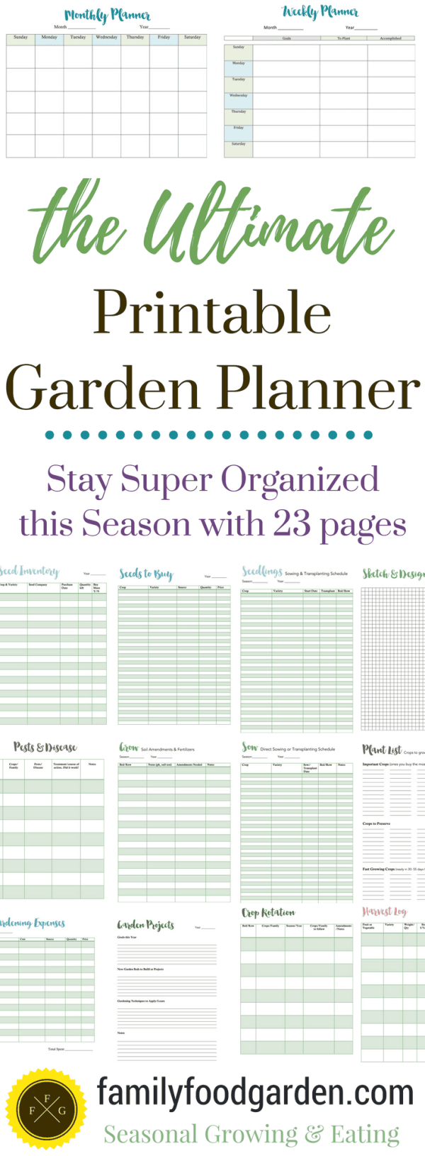 ultimate printable garden planner