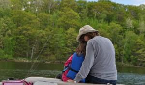 mom and mia fishing