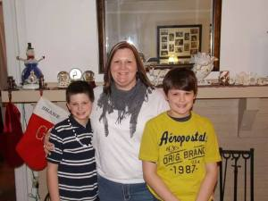Cancy and her stepsons.