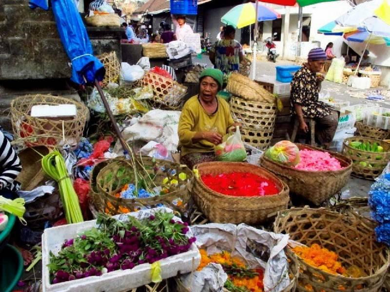 Balinese wet market vegetables