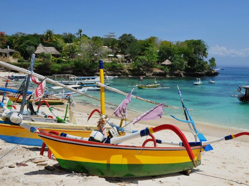 Colour Boats Beach Bali