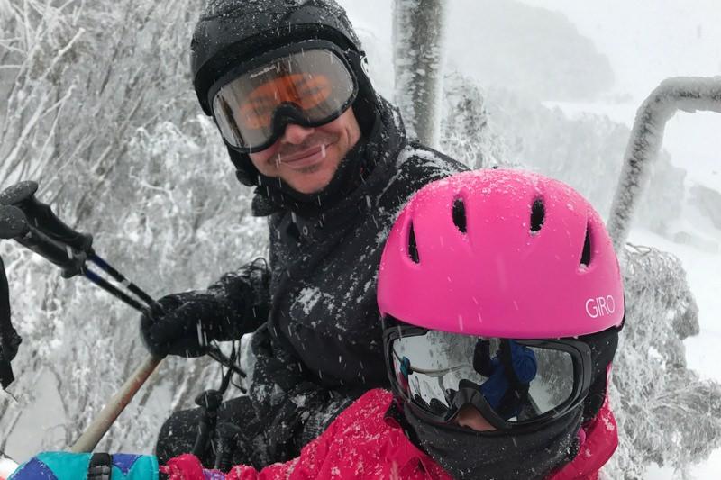 Falls Creek Family Skiing Chair Lift