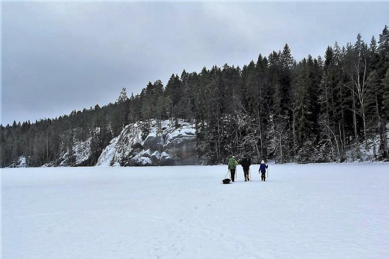 Nuuksio National Park Finland Hiking Frozen Lake