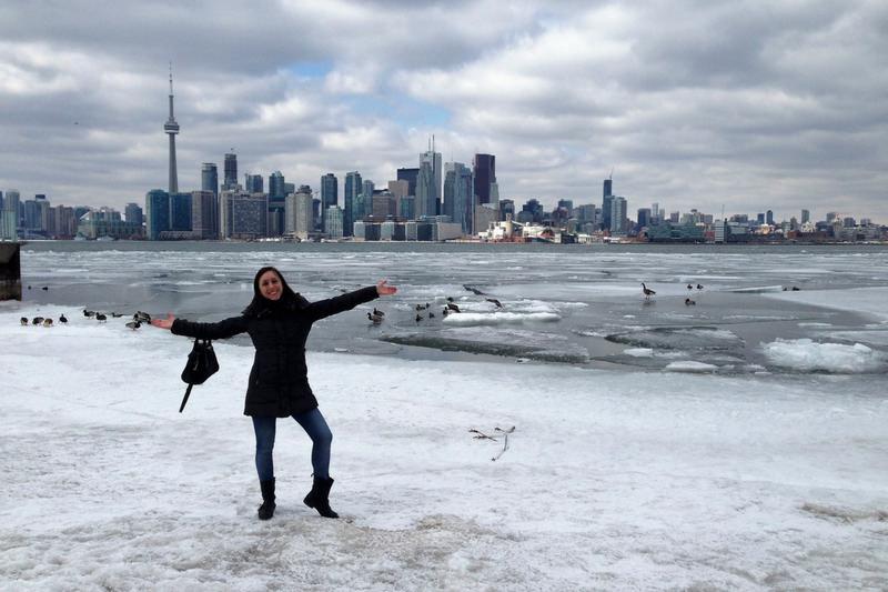 Toronto Island, Lake Ontario, girl winter