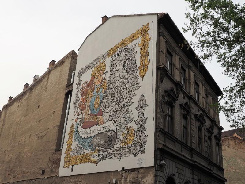 Everyone has a town Street art mural Budapest