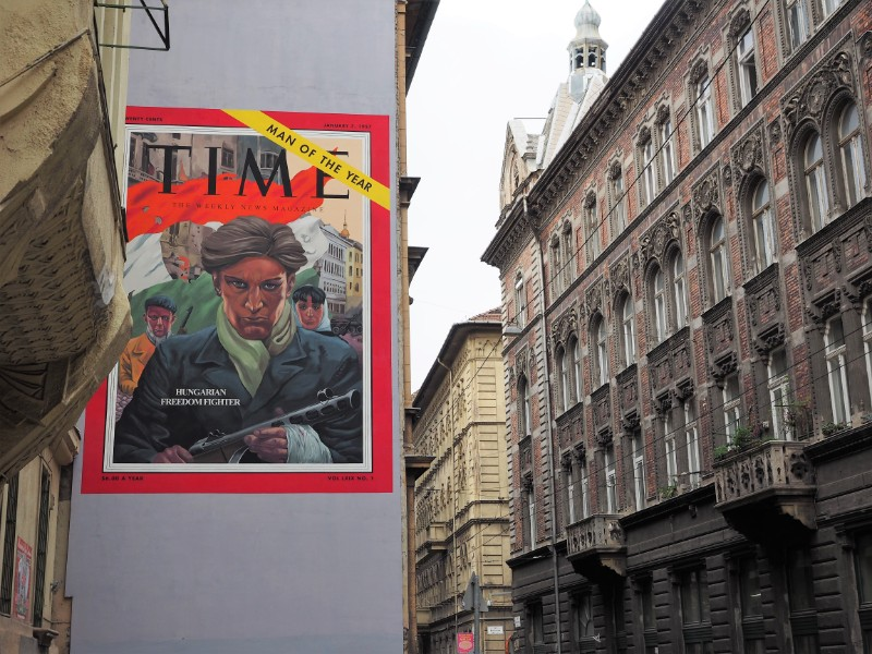 Man of the Year Time Magazine Street art mural Budapest