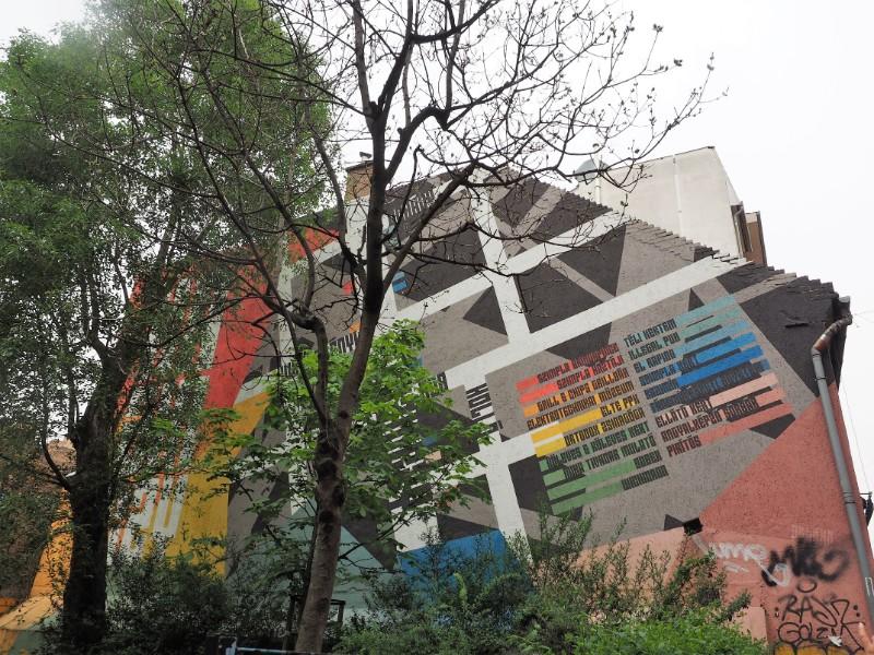 Map of bars Street art mmural Budapest