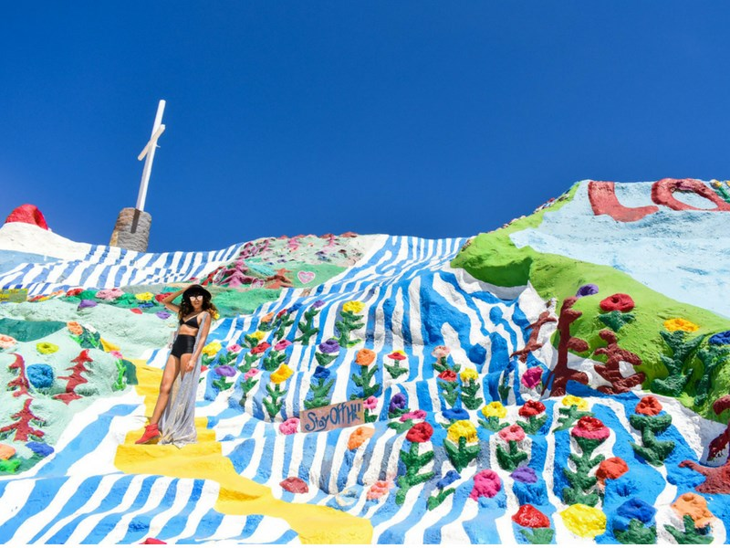 California Road Trip Itinerary Salvation Mountain