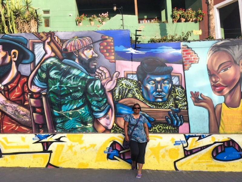 Instagrammable street art Lima