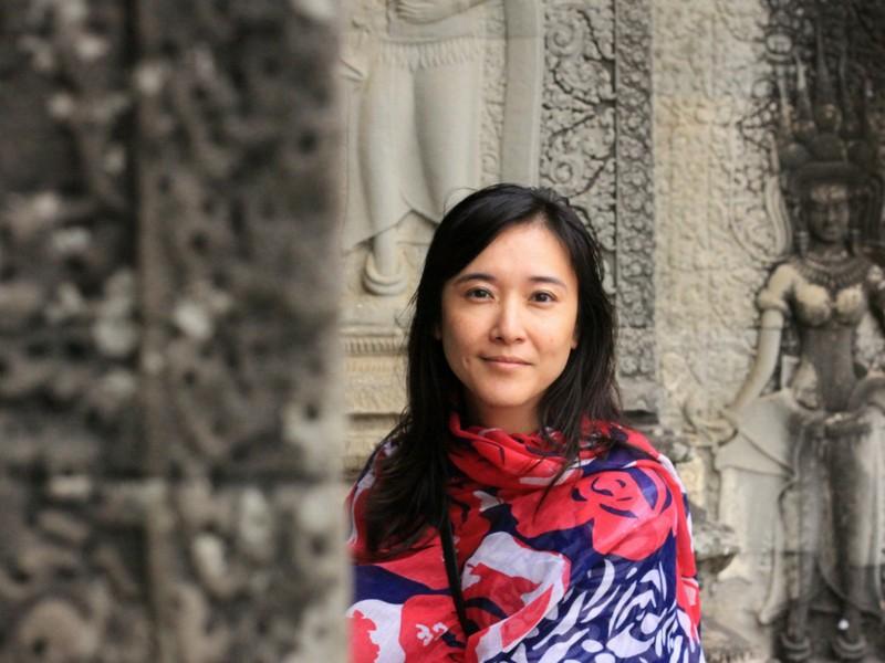 Angkor Wat Woman Scarf Siem Reap