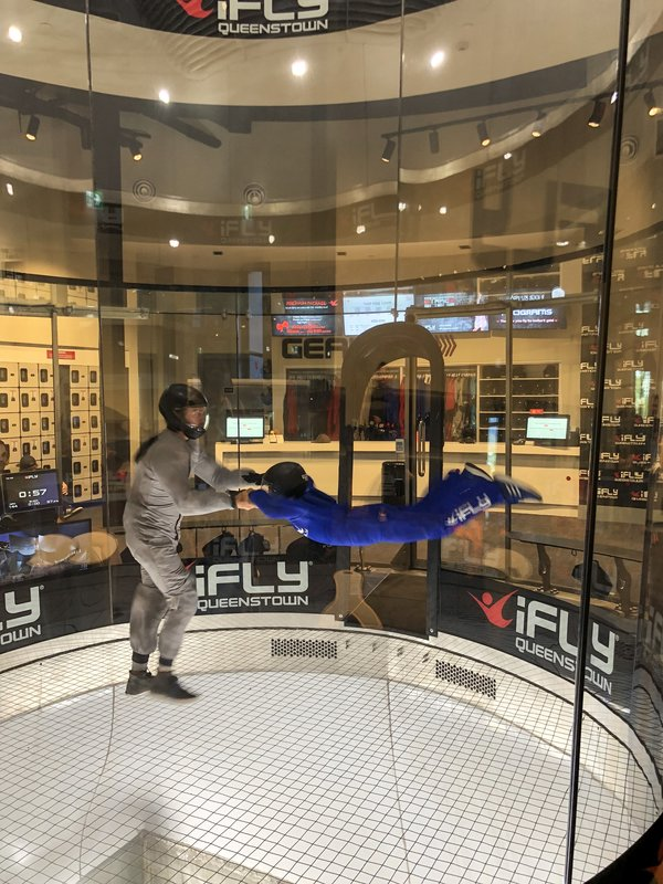 Indoor Skydiving in Queenstown, NZ by an 11-Year-Old