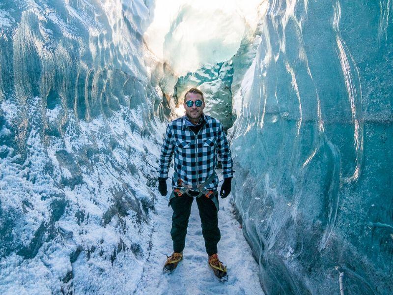 Glacier walking Svinafellsjökull Iceland