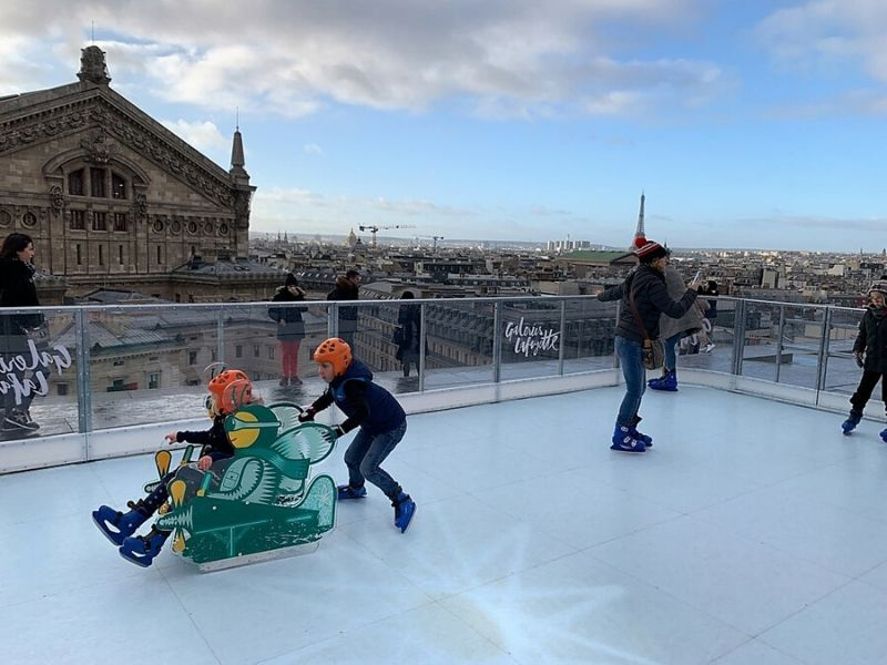 Ice Skating in Paris France