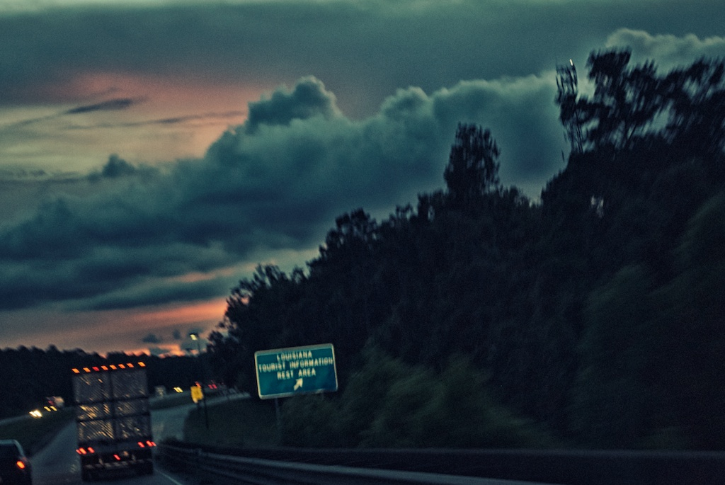 The sunset, as we entered Louisiana