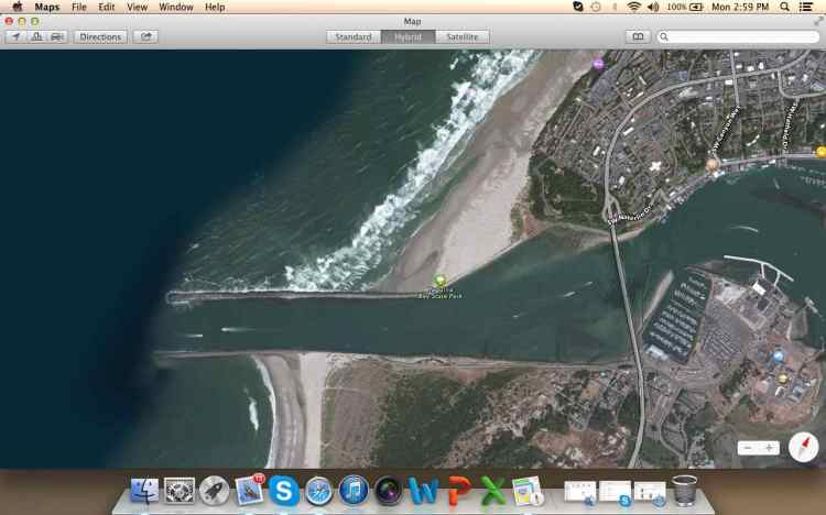 Googlemaps has also been a useful tool to appraise every viable harbor and port along the way.