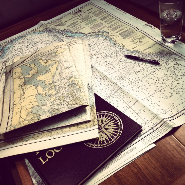 Got a pack of nautical charts for the Pacific Northwest Coats - used, but pretty handy