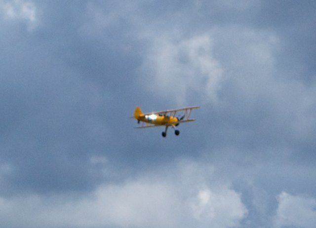 Outside, we were lucky to get an exhibition of vintage aircraft to add to the enjoyment