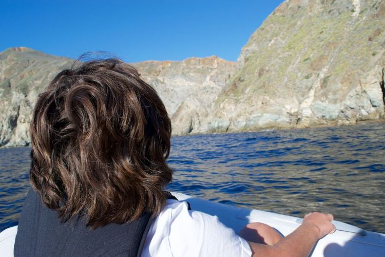 We took the dinghy to observe the rocky formations from close by