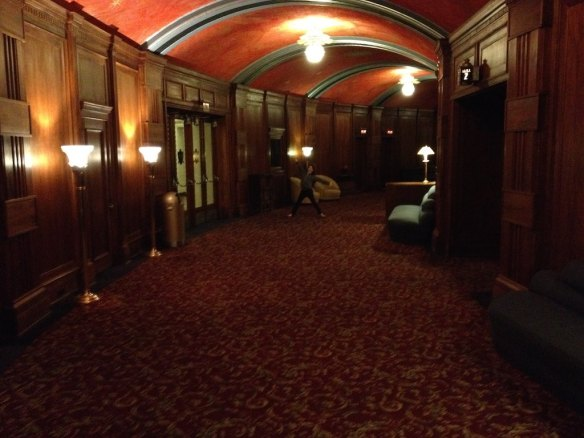 The foyer at the entrance of the theater - very art deco