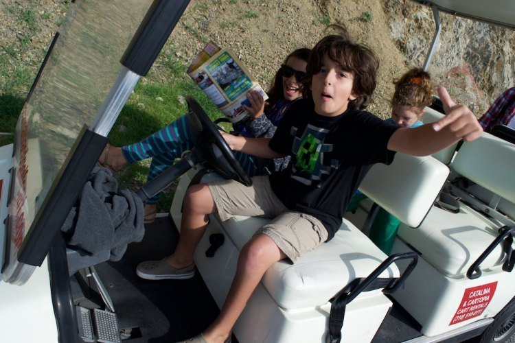 Then we rented ourselves a golf cart ...