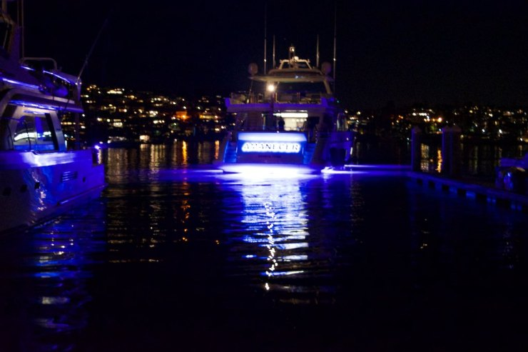 And when the night comes, their underwater illumination systems are a show in itself