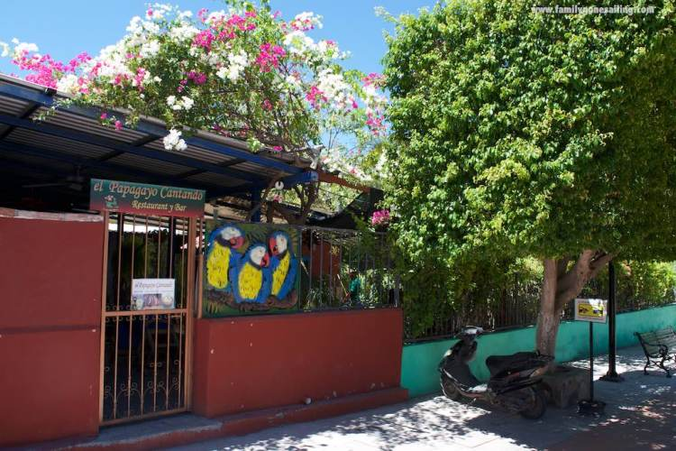 One of the many restaurants that line up Calle Salvatierra