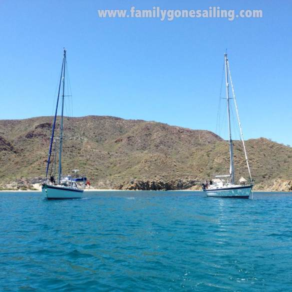 s/v Pesto and s/v Sarita in Puerto Ballandra. Two Hallberg Rassy's in the same anchorage ... not an usual sight