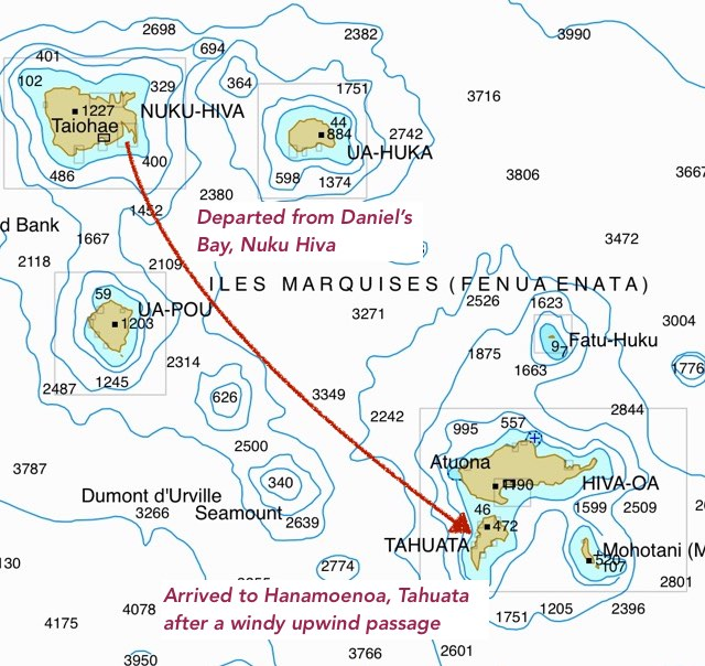 Hanamoenoa Map