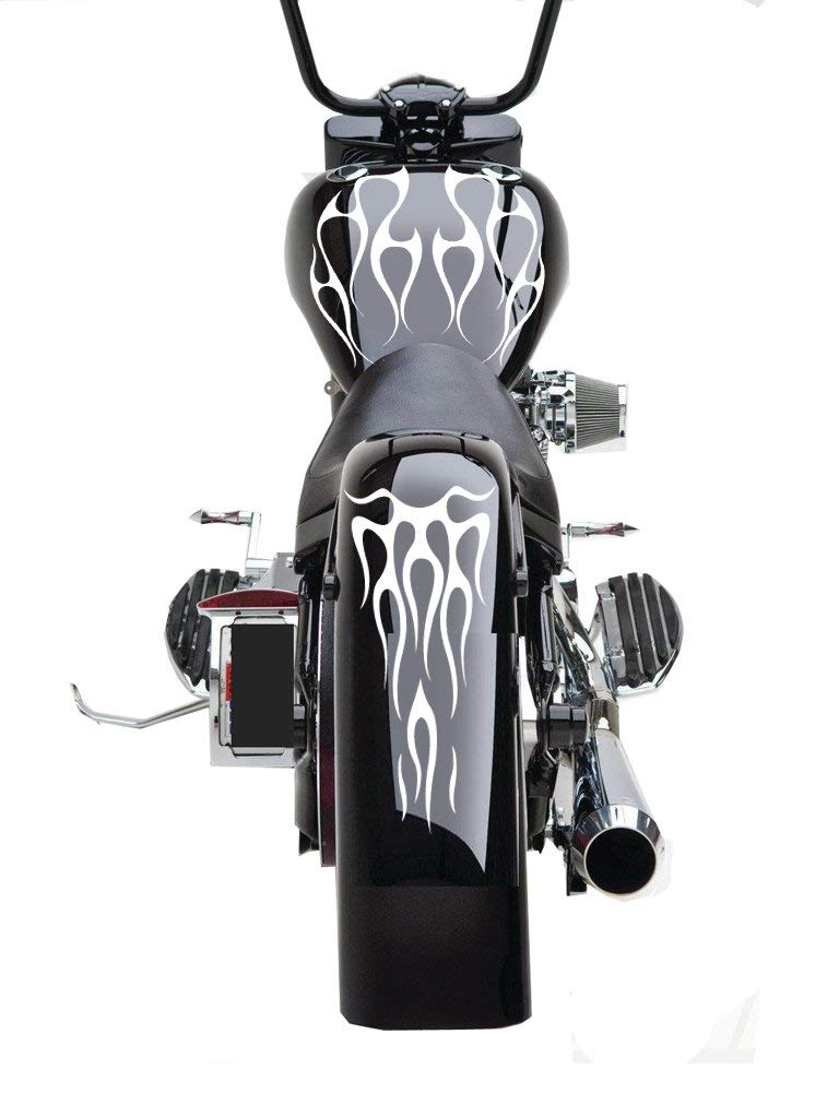 Fgd Motorcycle Flame Set Gas Tank Fender Decals Stickers Ffs02
