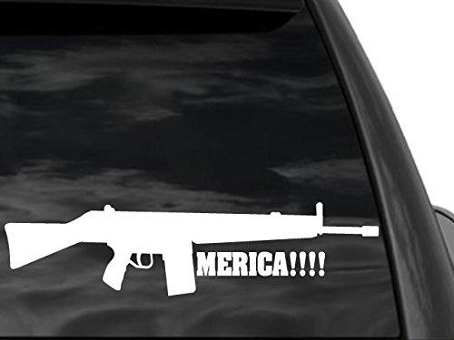 Fgd Funny Pro Gun Window Rifle Sticker Merica 12 X 3 Mer6 Second Amendment Decal Car Truck Suv Family Graphix Llc