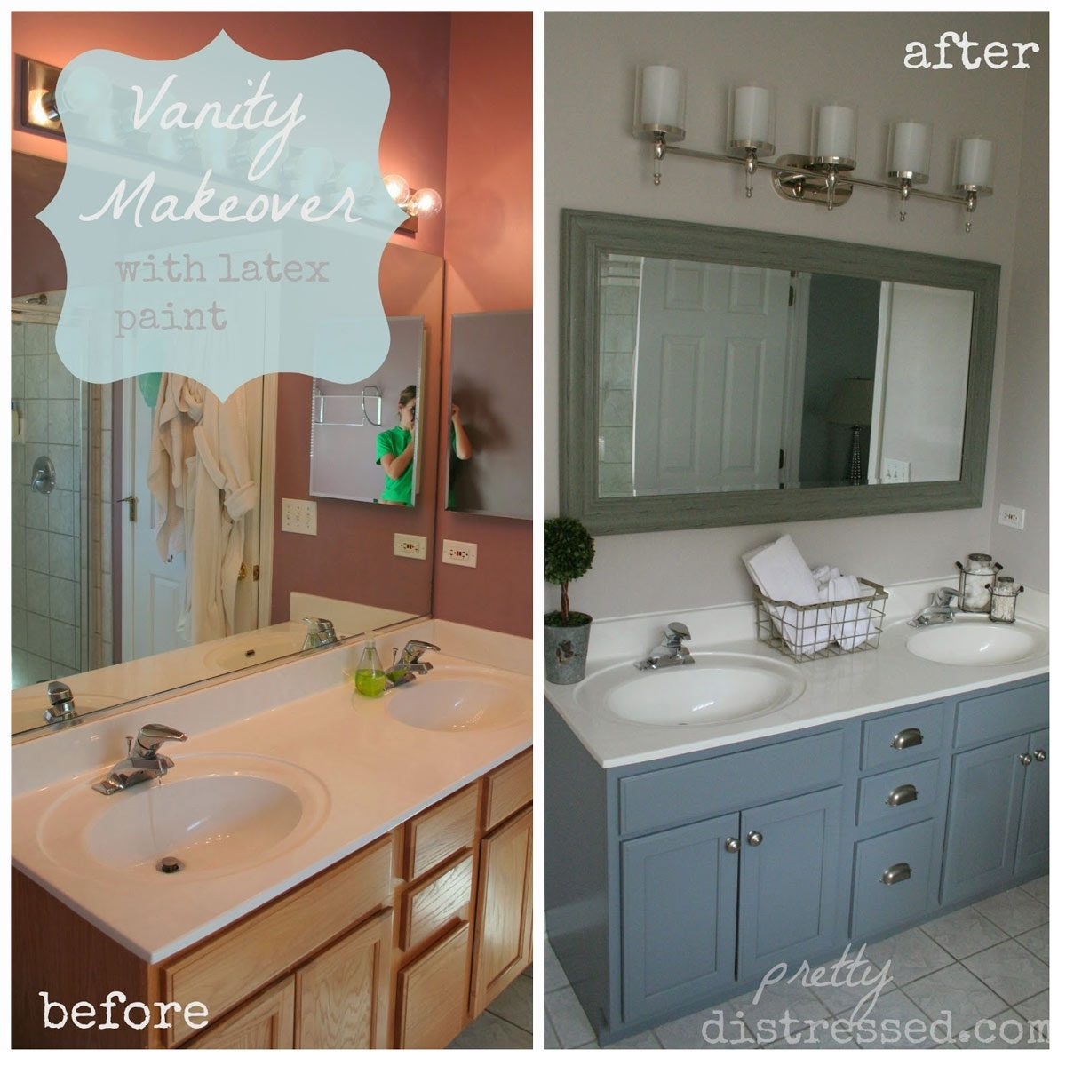 Painted Bathroom Cabinets 12 Astonishing Diy Bathroom Vanity Makeovers The Family Handyman