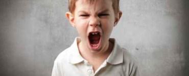 طفل عنيد يصرخ