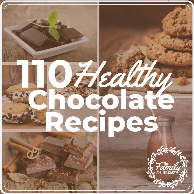ou don't have to feel guilty about giving into your chocolate craving... not when you have 110 HEALTHY Chocolate recipes to choose from! Check 'em out! #chocolate #healthydessert #chocolatelove #cacao #healthychocolate ~ TheFamilyApothecary.com