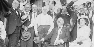 General Daniel Sickles at the the Gettysburg Reunion (the Great Reunion) of July 1913, which commemorated the 50th anniversary of the Battle of Gettysburg.