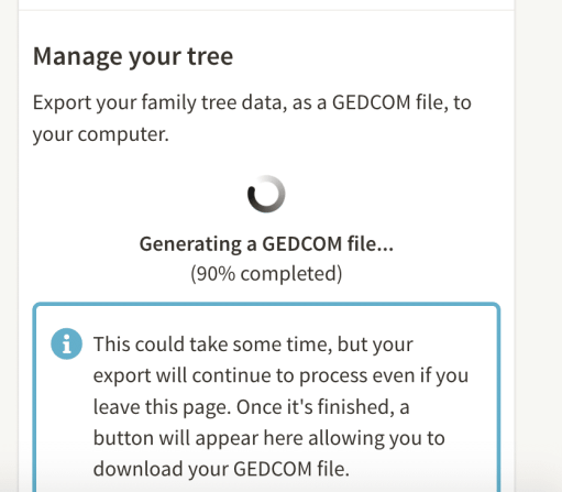 How to move your family tree, GEDCOM downloading