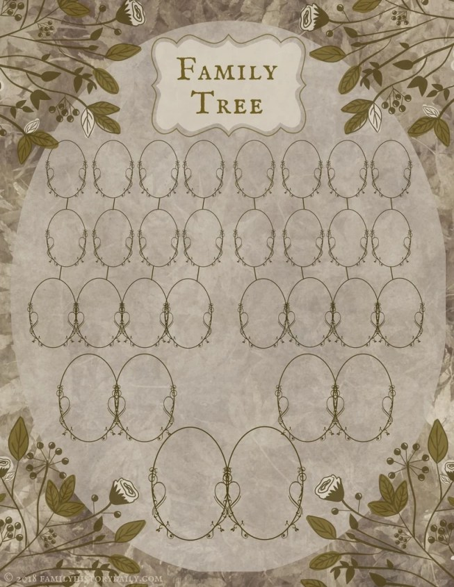 Free Family Tree Printable for Genealogy Project