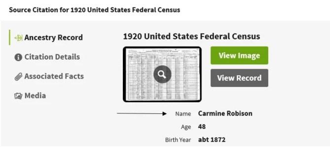 Correcting Ancestry.com Records, 1920 Source Citation