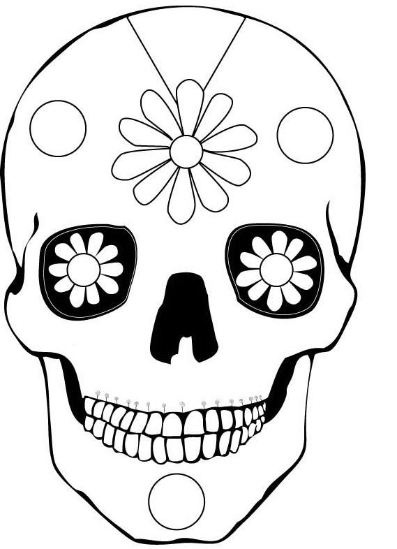 Day Of The Dead Skull Drawing Easy : skull, drawing, Skull, Drawing, Ideas