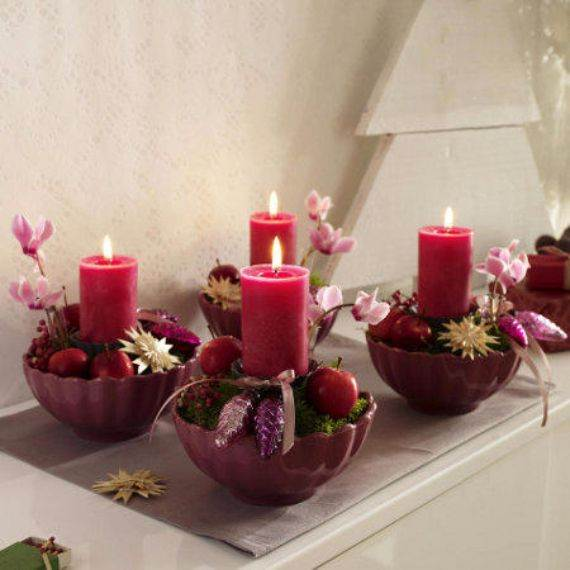 Easy and Elegant Christmas Candle Decorating Ideas - family holiday