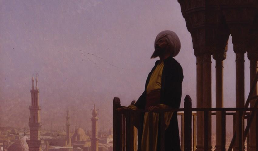 "Jean-Leon Gerome, ""The Muezzin"", 1866. Crédits : Joslyn art museum."