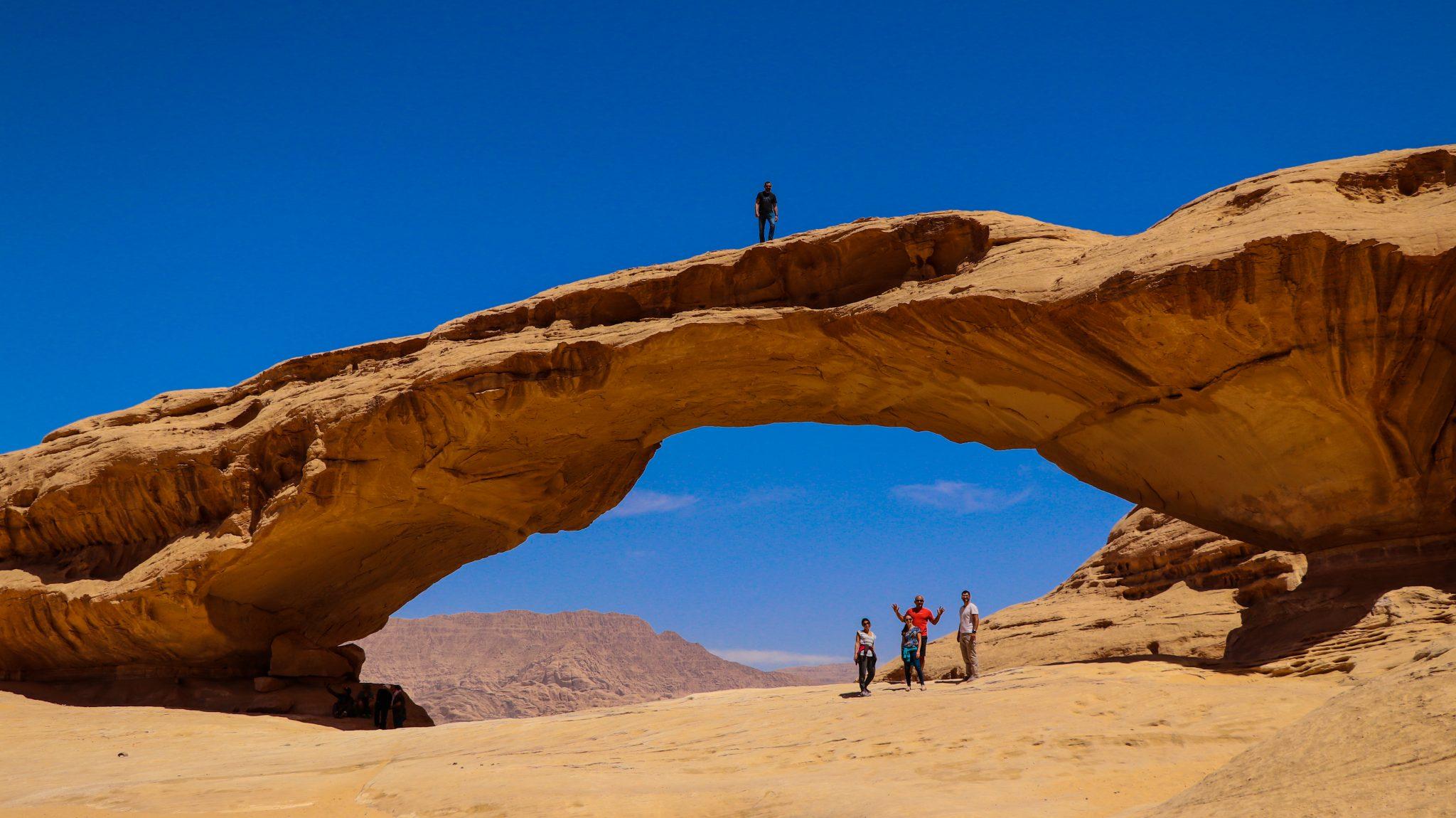 Les arches de grès du Wadi Rum