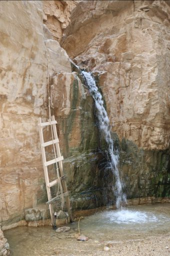 the deluxe version: a knotted rope AND a ladder